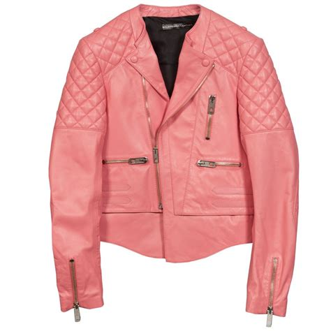 Jaket Pink pink leather jackets jackets