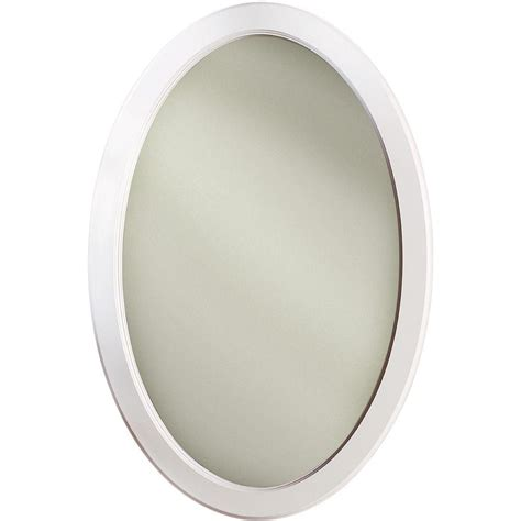 oval recessed medicine dunhill 21 in w x 31 in h x 3 5 in d oval mirrored