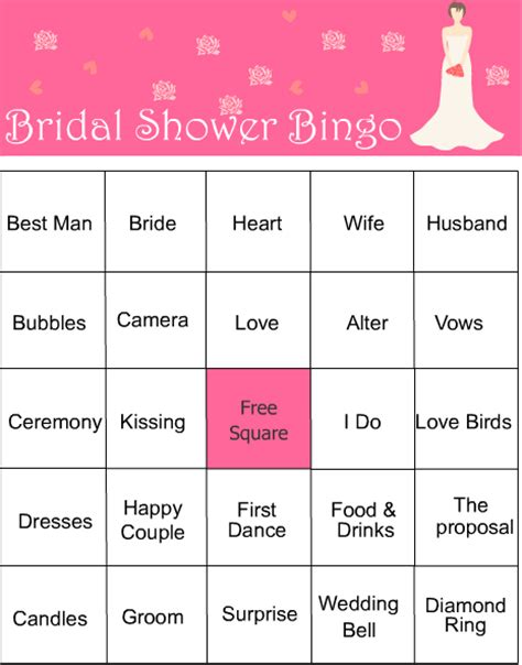 bridal games  showers printable
