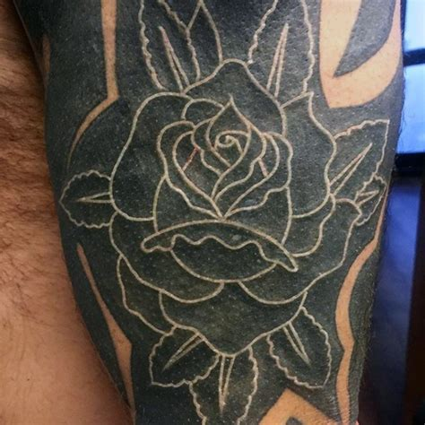 detailed rose tattoo black and white flower detailed