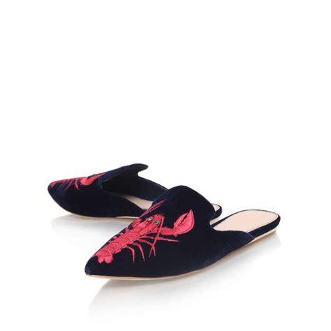otter slippers otter navy flat slippers by kg kurt geiger kurt geiger