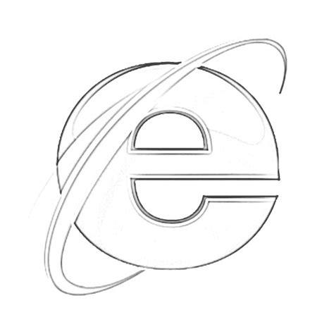 the sketchbook logo explorer browser logo sketch coloring page