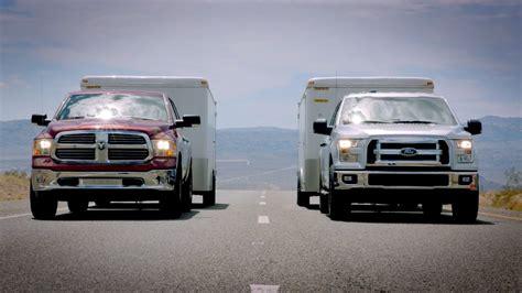 2015 Ford F 150 towing test VS. Ram 1500 & Chevy Silverado