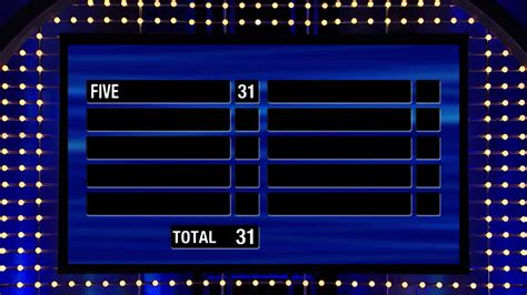 family fued template family feud shocking fast money tune pk