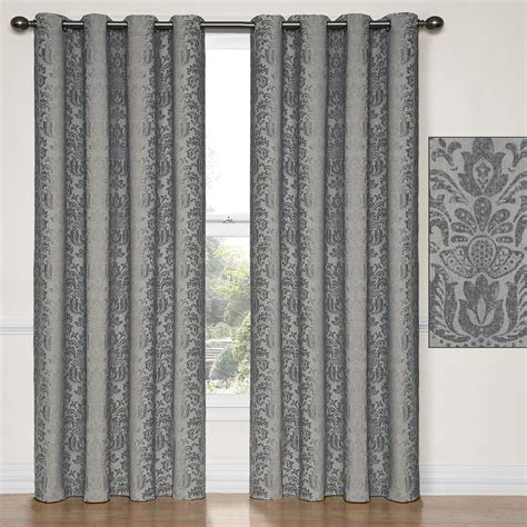 Nadya Thermalayer Charcoal Blackout Curtain Panels
