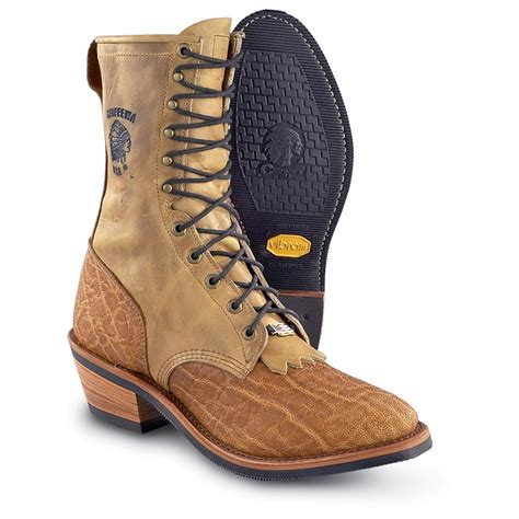 s packer boots s chippewa 174 elephant packer boots honey beige