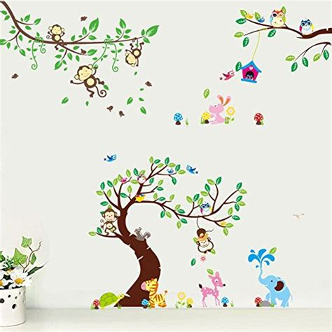 baum sticker kinderzimmer wandtattoo wandsticker aufkleber sticker kinderzimmer