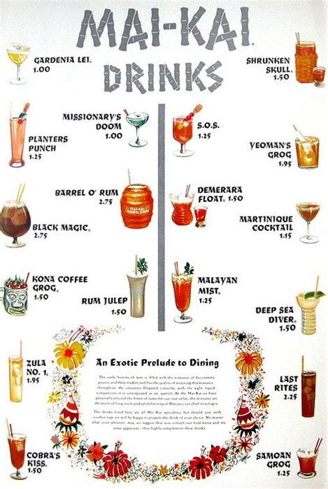 Best 25 Cocktail Menu Ideas On Pinterest Menu Design Menu Restaurant And Restaurant Menu Design Tiki Bar Menu Template