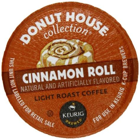 donut house coffee donut house collection coffee cinnamon roll k cup portion pack for k
