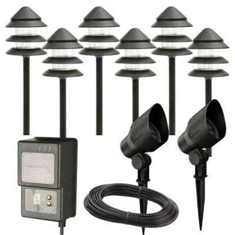 Low Voltage Landscape Lighting Kit Installing Low Voltage Lighting At The Home Depot