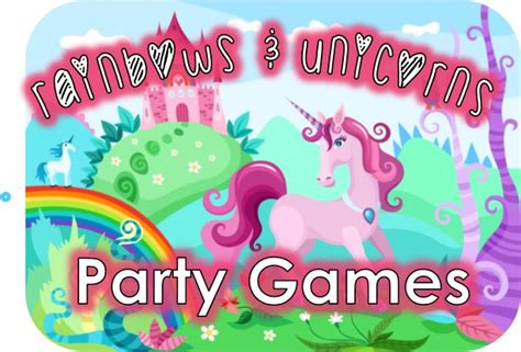 printable unicorn party games rainbow and unicorn party game ideas