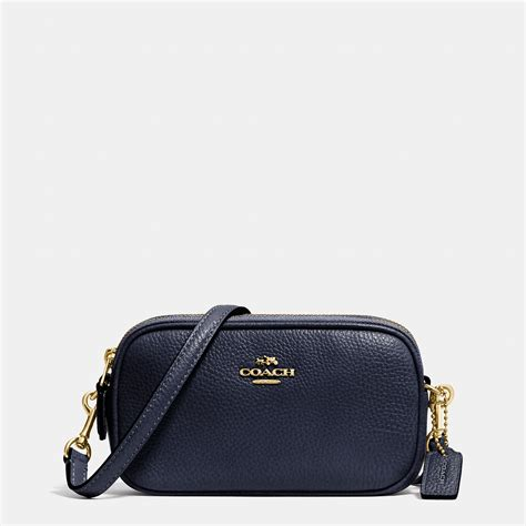 Coach Pouch by Lyst Coach Crossbody Pouch In Pebble Leather In Blue