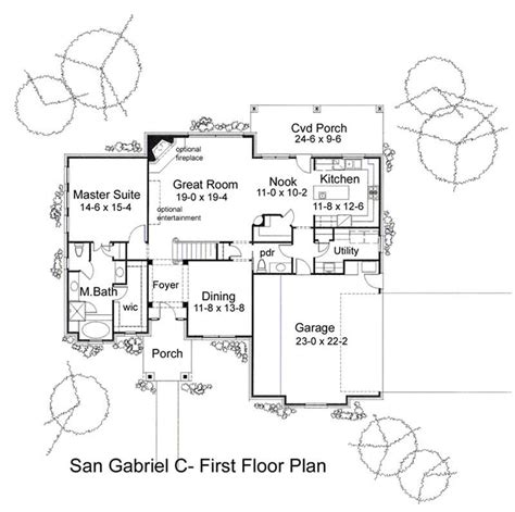 san gabriel mission floor plan house plans home design the san gabriel c 20793