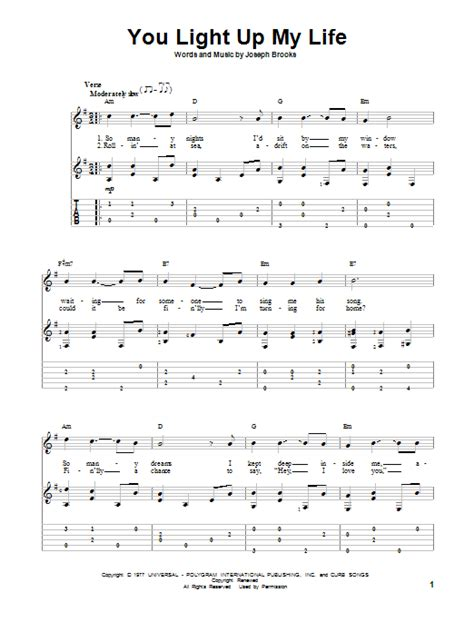 you light up guitar tab by debby boone guitar tab