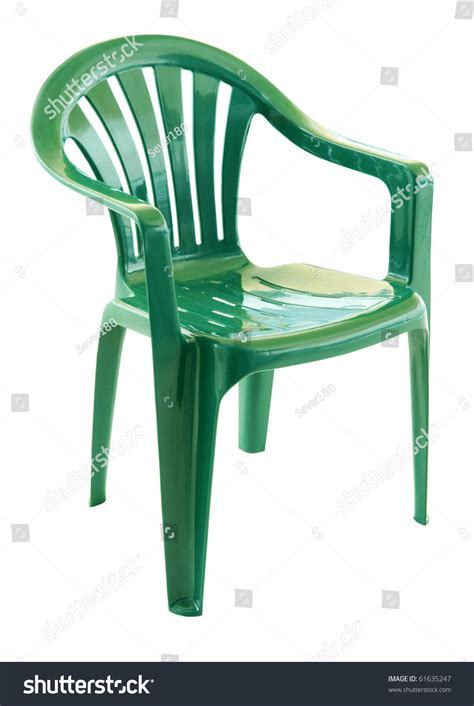 Green Plastic Chairs by Green Plastic Chair On White Background Stock Photo