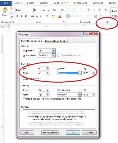 apa format hanging indent formatting in microsoft word citing your sources