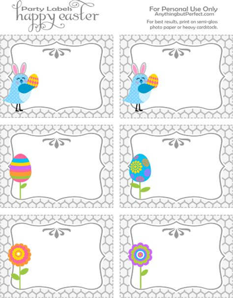 Printable Easter Place Card Template by Labels Free Printable Frames Borders Garlands
