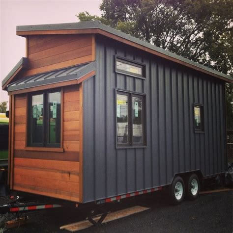 Single Wide Mobile Home Interior Design The 224 Sq Ft Cider Box Tiny House By Shelterwise