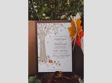 My DIY Fall Wedding Invitations | Weddingbee Photo Gallery I'm Lost