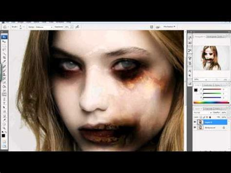 zombie yourself tutorial turning yourself into a zombie for holloween esc