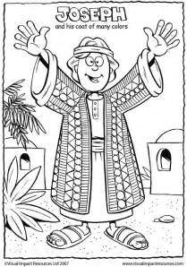 joseph and his coat of many colors free coloring pages of joseph his coat