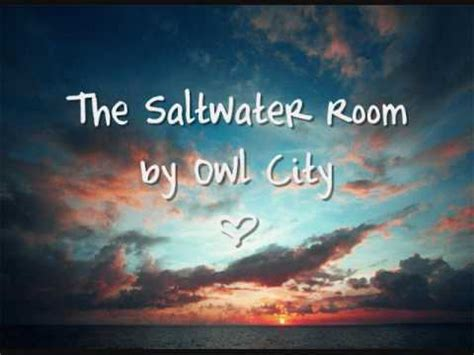 owl city saltwater room owl city the saltwater room lyrics in description