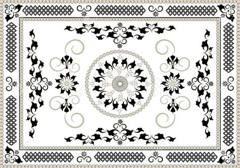 persian pattern vector rug persian rug pattern vector ornamental round lace