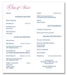 catholic mass wedding programs catholic wedding program template image search results