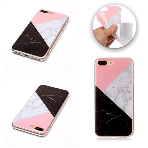 Ultra Thin Tpu Iphone 6 Big Pattern Gray ultra slim marble pattern tpu soft back cover for iphone 6 plus 7 plus 6 5 ebay