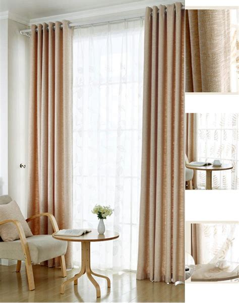 beige linen curtains affordable beige linen cotton blend nursery curtains