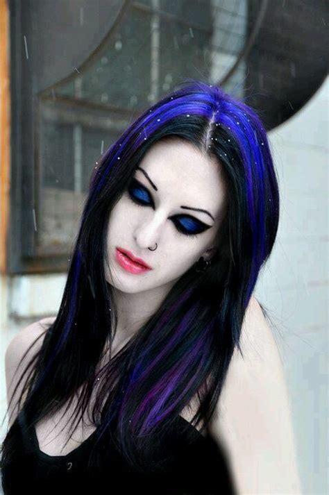 black blue electrical electric blue black hair makeup makeup