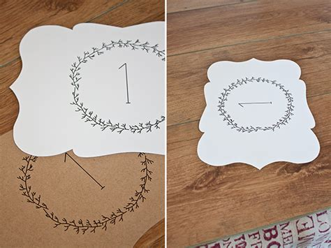 free printable table number cards wedding 10 sets of