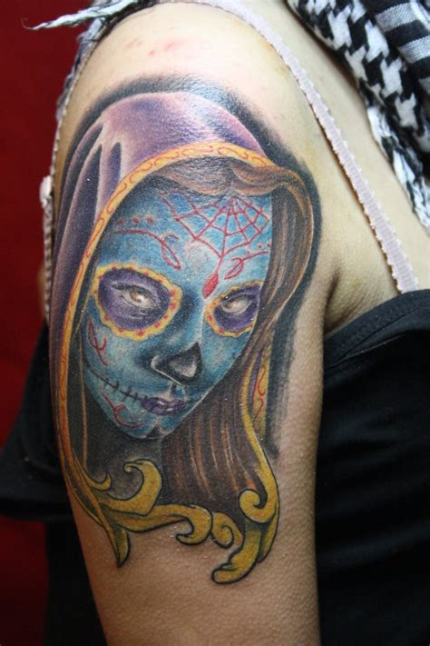 day of the dead tattoo sleeve day of the dead tattoos designs ideas and meaning