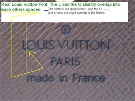 How To Tell If A L Is Real by Louis Vuitton Fonts Real Or
