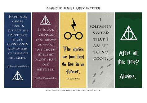 printable geek bookmarks les marque pages harry potter la version illustr 233 e du
