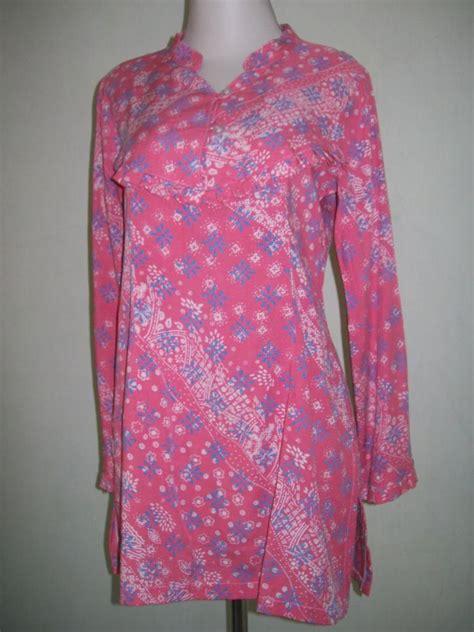 St Mahesa Batik Pink Salem blus batik wanita lengan panjang berwarna pink salem bahan santung toko batik 2018