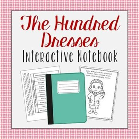 The Hundred Dresses Worksheets by The Hundred Dresses Interactive Notebook Novel Unit Study