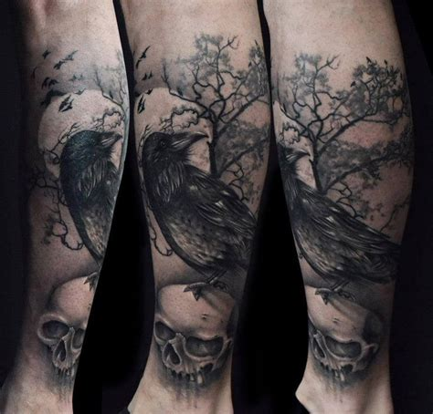 gothic tattoo designs tattoos rabe skull totenkopf sch 228