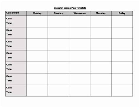 generic lesson plan template blank weekly lesson plan template besttemplates123