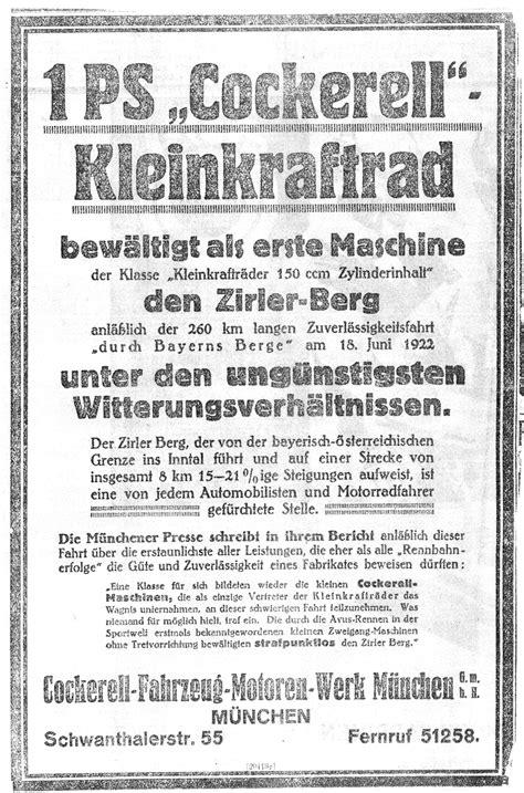 Gute Motorradhersteller by Fritz Cockerell Und Walther Steiger