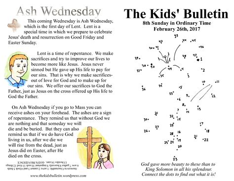 cross ash wednesday images bulletin pkg of 50 books the kids bulletin for sunday february 26th 2017 and ash