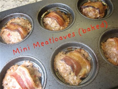 mini meatloaf in muffin pan bacon wrapped mini meatloaves in a muffin tin tastingspoons