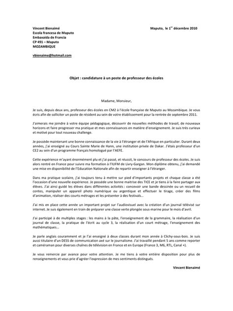 Lettre De Motivation Inscription Ecole Privée Catholique Modele Lettre Motivation Inscription College Prive
