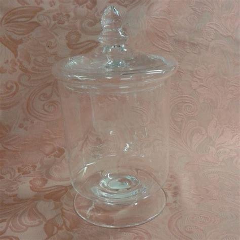 vasi di vetro con coperchio vaso vetro soffiato con coperchio cm 16x29