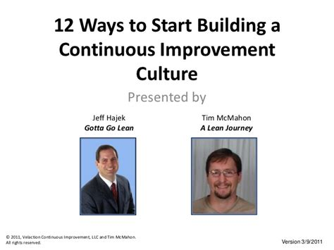 12 Ways To Be Completely Sure A Likes You by 12 Ways To Start Building A Continuous Improvement Culture