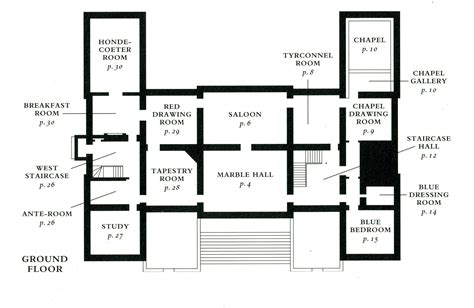 H Shaped Ranch House Plans Floor Plans Castles Palaces On Ground Floor Floor Plans And Chateaus