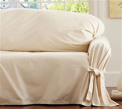 loose fit slipcovers for sofas twill tie arm loose fit slipcover large sofa parchment