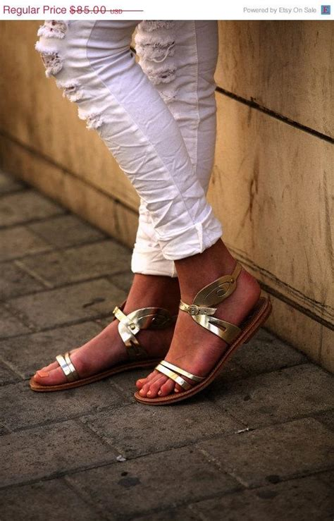 gold flat wedding shoes 20 gold leather s sandals wedding sandals