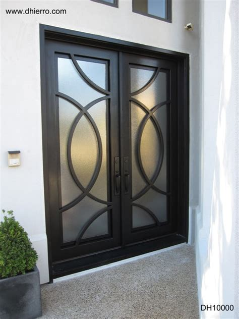 Iron Doors Exterior Contemporary Exterior Other Contemporary Glass Front Doors