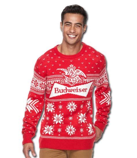 bud light sweater budweiser bowtie sweater beertees com